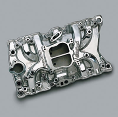 Intake S/B Edelbrock Performer Polished 37111