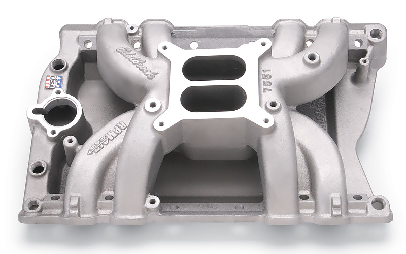 Intake B/B Edelbrock Performer RPM Air-Gap Polished 75511