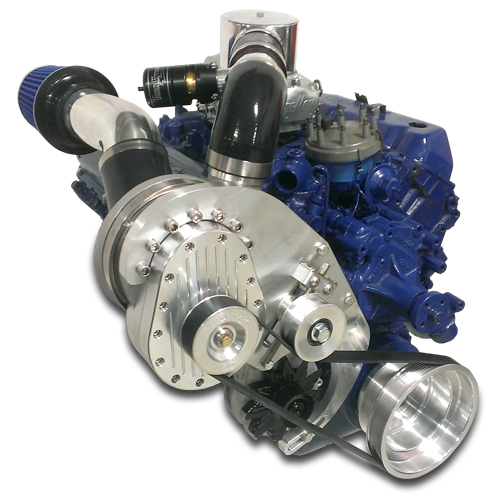 Supercharger Big Block Ford FE - Single Charger Kit